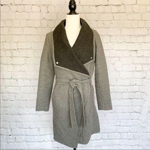 H&M Trench Coat - Charcoal Grey